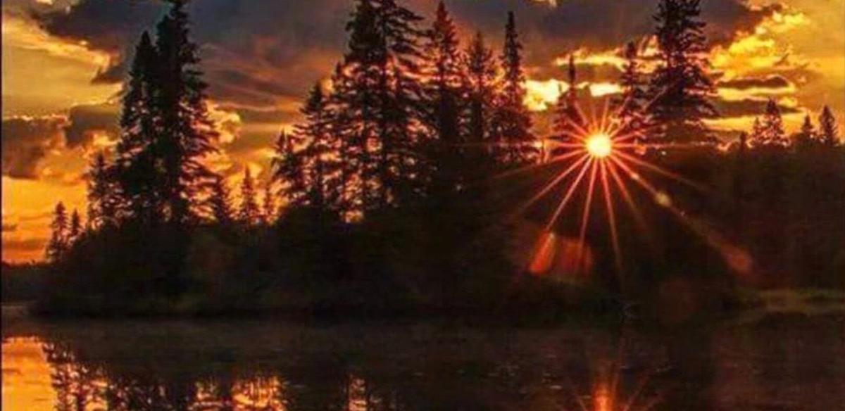 Stödesjön i solnedgång